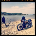 Oil13 Kz Cafe Racer lake and leather
