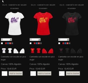 Oil13  TiendaOnline Camisetas Mujer