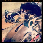 Oil13 Cafe & Racer - Kawasaki KZ 400 Back Size Detail 1