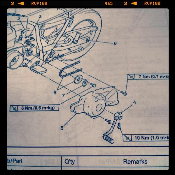 Oil13 - Yamaha Tw 125 Manual detail