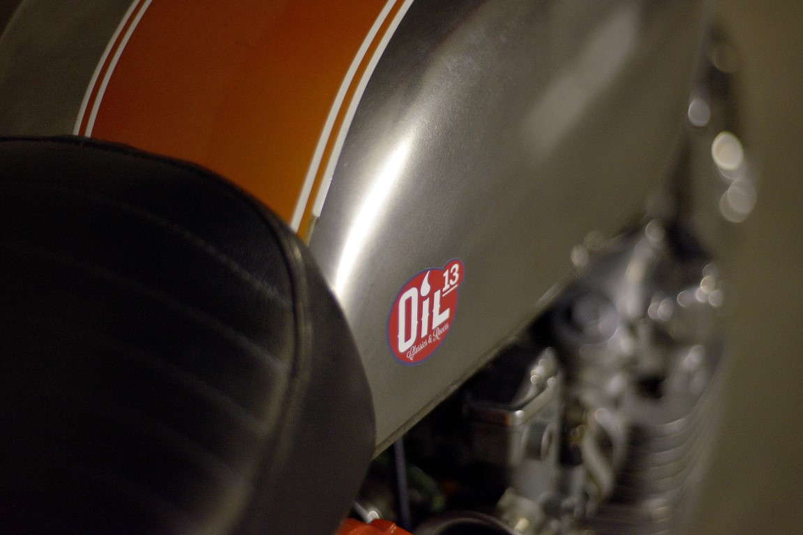 Oil13 - Honda CB500 Four K3 1979 Café Racer Right Side Detail