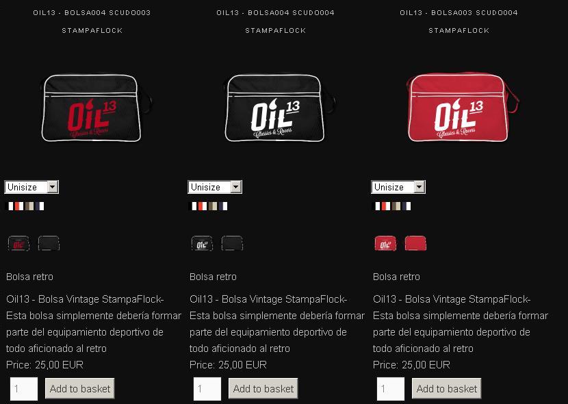 Oil13 - Tienda Online -  Bolsas