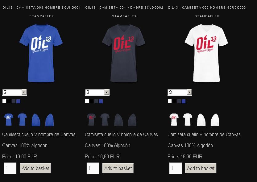 Oil13 - Tienda Online -  Camicetas V Hombre