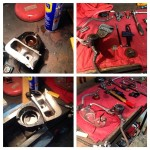 Oil13 - Kawasaki Kz400 Frontal Brake Caliper  Restoration 1