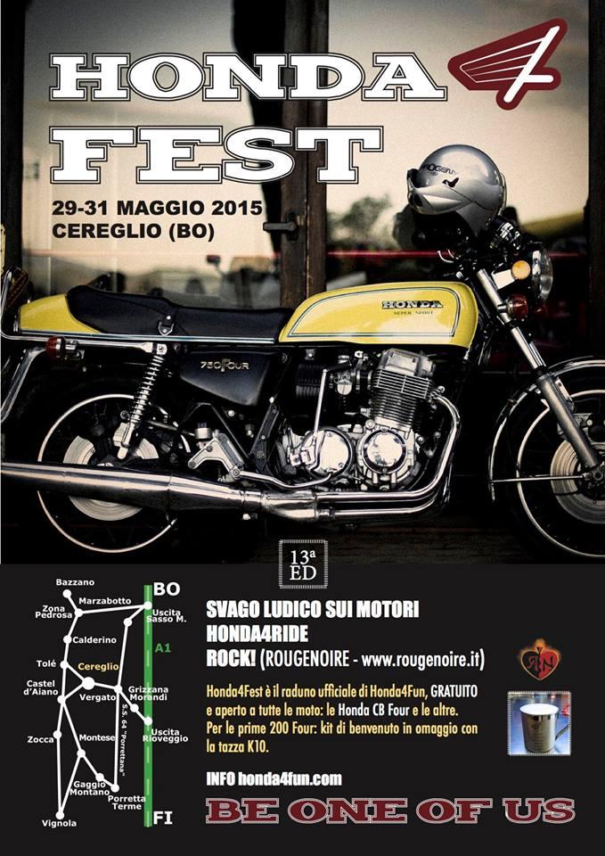 Locandina 13 HondaFest 2015