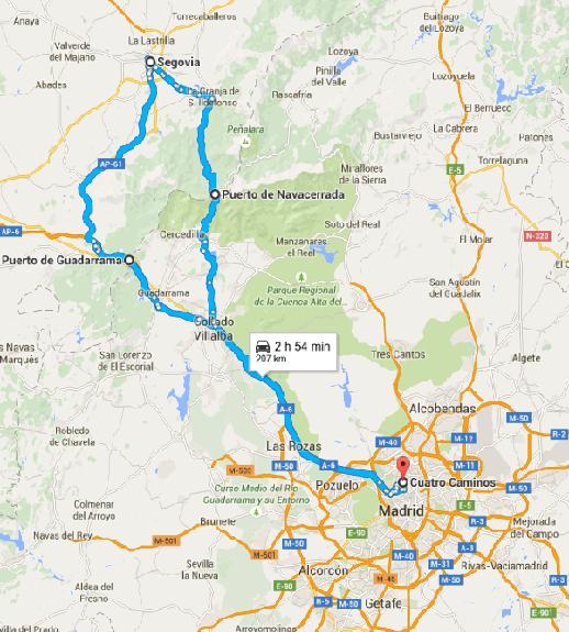 Ruta Marid-Segovia- Madrid