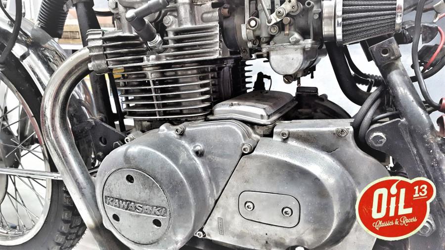 Oil13 Kawasaki Kz400 Scrambler New Project 2017 - Engine Detail
