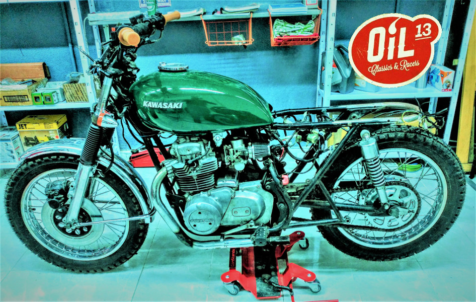 Oil13 - Kawasaki Kz400 Scrambler Full Right Side