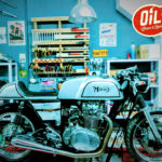 Oil13 - YAMAHA XS650 1977 Café Racer Right Side
