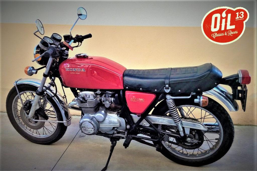 Oil13 Honda CB400 Four Super Sport 1977 La Fenice Logo