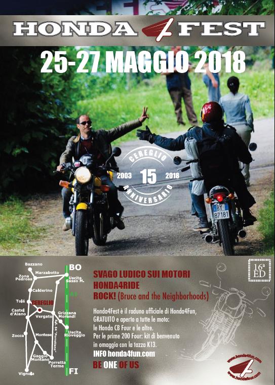 Oil13 - Locandina 16th Honda4fest 2018