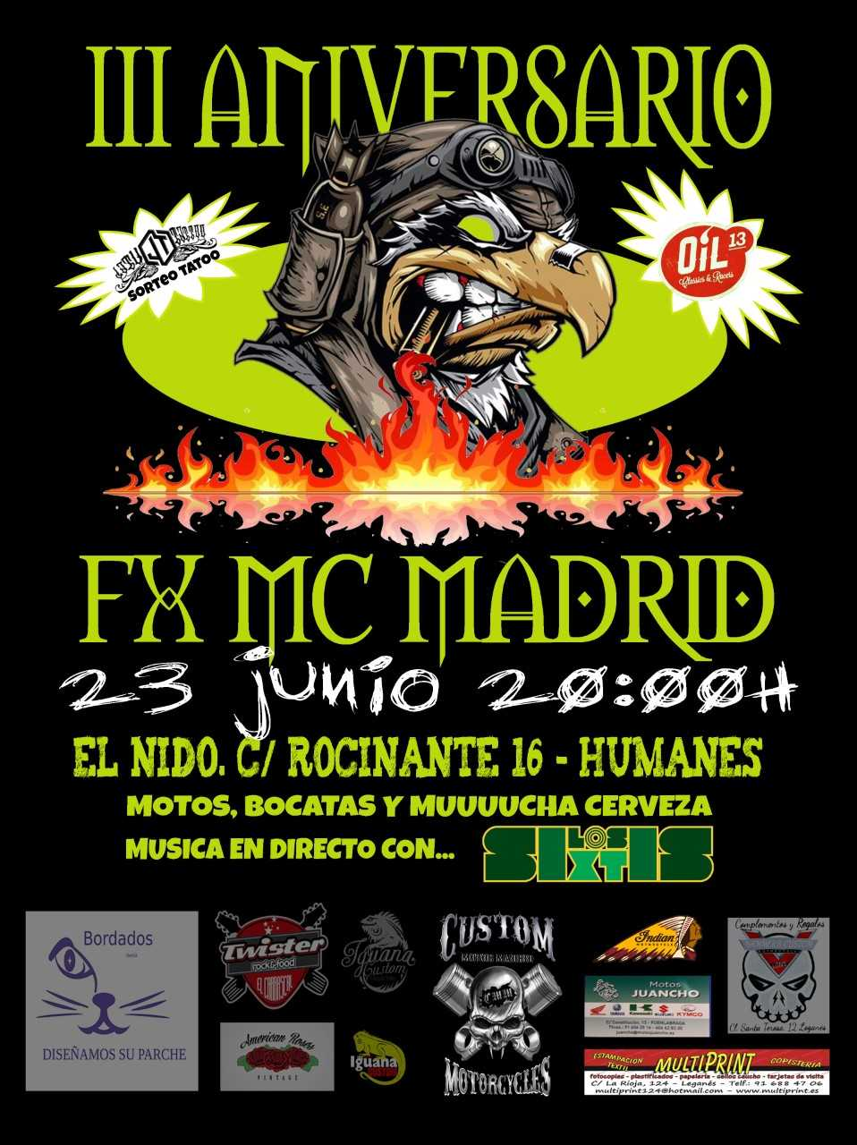 Oil13 - FX MC Madrid 2018 - 3º Aniversario